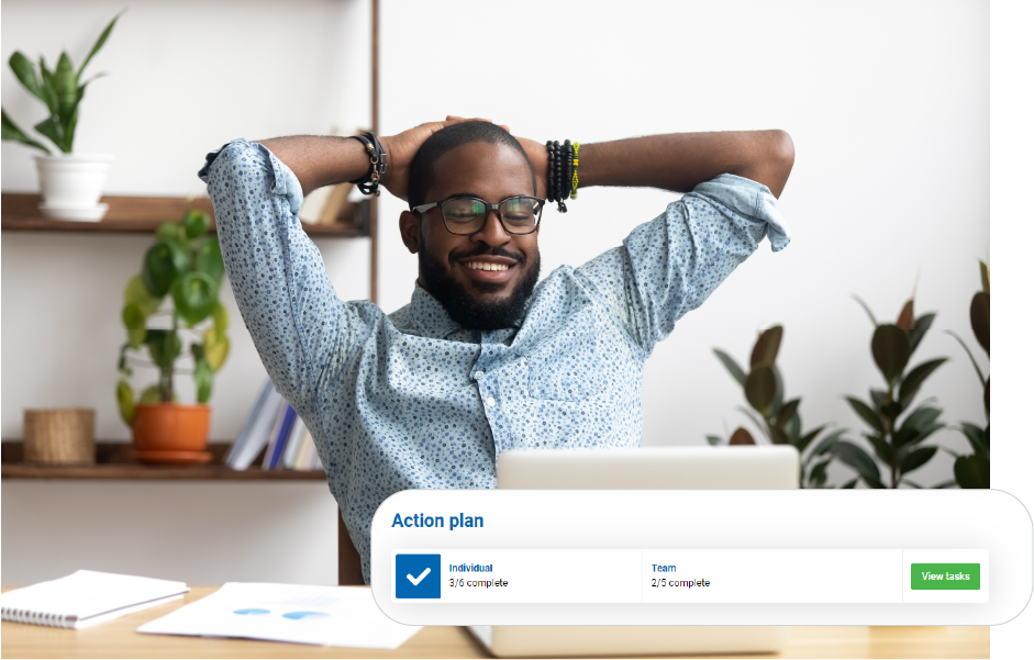 Close the employee feedback loop with automated action plans for every employee