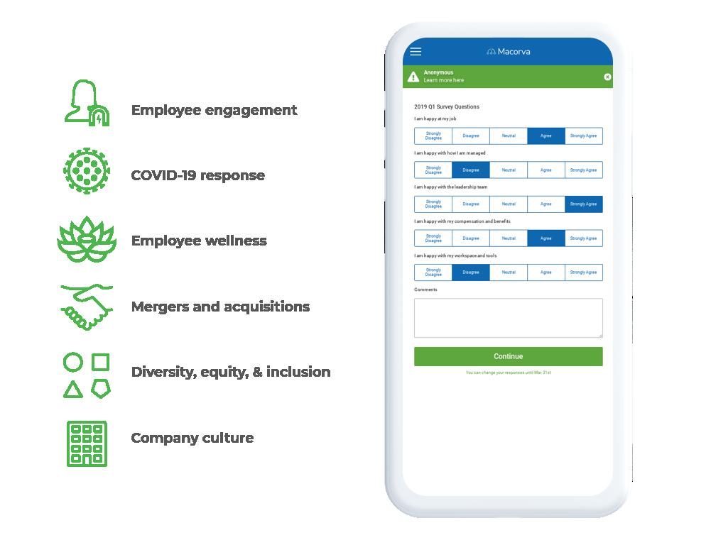 User-friendly mobile employee surveys